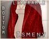 [Is] Fur Long Coat Red