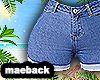 basic denim shorts BITCH