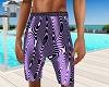 Purple/white Beach Short