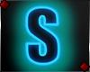 Neon Letter S