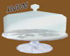 JMW~Marble Cake Plate