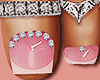 Feet Silver Sof t Pink