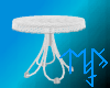 )L( White Draped table