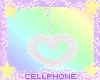 white heart earrings ❤