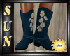 [SUN] Blue/Daisy Boot