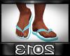 !E! Flip Flops Blue