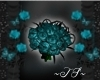 TS~ Teal Rose Bouquet