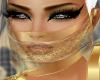 Gold Black Half Veil