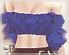 Ruffles Top Blue