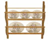 Romantic plate rack oak