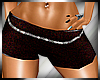 Glitter Shorts Red