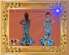 Abstract Blue Gown Desig