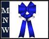 Blue/Silver Bow w/Bells