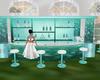 Teal Wedding Bar