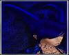 Blue Horns for dark room