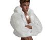 Layer Fur Coat White