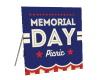 Memorial Day Picnic Sign