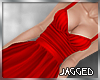 Arya dress fire red