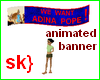 sk} Animated banner