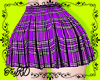 ePlaid skirt Purple