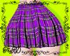 ePlaid skirt Purple