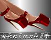 K*Shoes red platforms