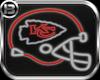!B! KC Chiefs NeonHelmet