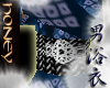 H*Yukata blue tops