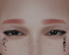 eyebrows red