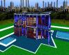 (S) BLUE+WHITE HOUSE