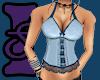 Sofie Blue Corset Top
