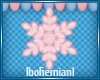 Small Pink Snowflake
