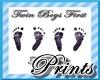 Twin Boys 1st Footprints