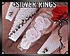 D|Wedding Nails+SlvRings