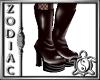 Ven Red Platform boots