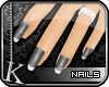 [K] Silver Ice Tip Nails