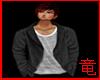 [竜]Black Open Sweater