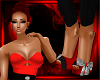 Red High-Waist Heels