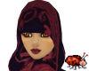 Hijab- Black/Red Pattern