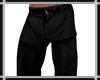 Black Old Baggy Pants