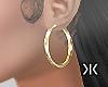Styling gold earrings!