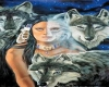 Wolf with Indian