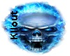 BLUE PARTICLE SKULL