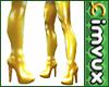 1MVUX Gold Boots