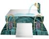Teal Rose Animated Tub