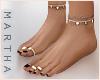 ( Feet+Rings ) Burgundy