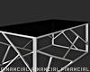 Glass Chrome Table