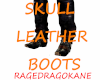 SKULL LEATHER BOOTS