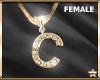 "SF  Letter ""C"" Necklace"