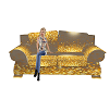 Gold and silver couch